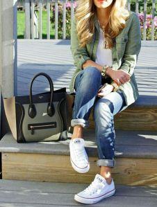 sentada bolso